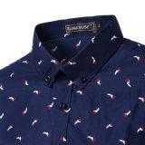 Chemise de robe de bleu marine d'affaires de constructeur OEM (A424)