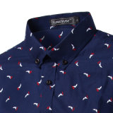 Chemise de robe d'affaires de bleu marine de Mens de constructeur OEM (A424)