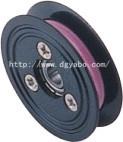 Puleggia di ceramica del rullo di guida del collegare della flangia del cavo di nylon di plastica della scanalatura