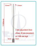 Aluminio / aleación de aluminio Balcón Esgrima