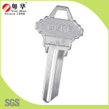 Sale quente Coustomized Brass Door Key Blank para Locks