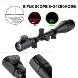 6-24*50aoeg que caça o espaço ótico iluminado verde vermelho do rifle do injetor do Mil.-PONTO