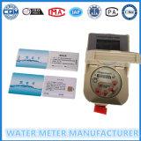 Tipo esperto medidor de água do cartão do RF com função do pagamento adiantado