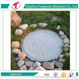 D400 700 SMC Composite Manhole Cover com trava e dobradiça