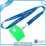 최신 판매 인쇄 로고 ID 카드 홀더 방아끈