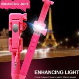 Lanterna elétrica prendida Monopod com luz instantânea do diodo emissor de luz para a vara de Selfie (RKMINI4)