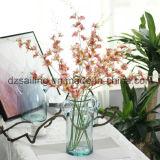 Flor artificial de la orquídea de las pistas de la venta al por mayor 27 para la decoración (SW06732)