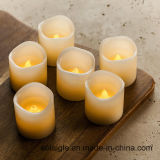 De LEIDENE Gele Trillende Wiek Gebemerkte Kaars Zonder vlammen van de Was