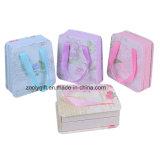 Custom Impreso Carrier Paper Suitcase Cajas De Regalo Bolso Manija De la Cinta