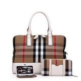 Bolsa de couro ajustada do saco da mulher do desenhador da senhora PLUTÔNIO do teste padrão da manta do PCS da forma 3