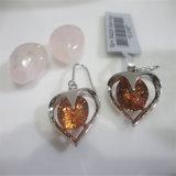 선물 (E-0167)를 위한 최신 판매 분홍색 925 순은 귀걸이