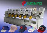 Máquina automatizada pista del bordado de la buena calidad 6 para el casquillo/la camiseta/completamente el bordado