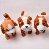 Chien enroué de peluche, jouet enroué de chien de peluche faite sur commande d'animal bourré