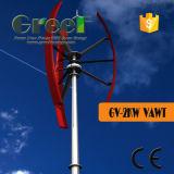 sistema completo verticale del generatore/turbina off-Grid/on-Grid di vento di asse 2kw