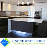 Alta mobilia classica degli armadi da cucina di rivestimento della lacca di lucentezza di colore bianco e nero (ZY 1065)