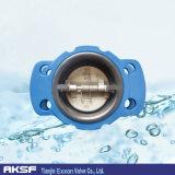 Tipo válvula da flange En558 de verificação da porta dobro Ss/Bronze