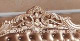 Blocco per grafici di legno solido, sofà di Luxuru del coperchio del cuoio mezzo