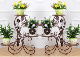 2016 새로운 Design 3 층 Wrought Iron Flower Shelf