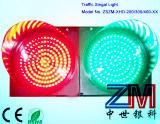 Rouge Vert boule pleine chaussée signal lumineux
