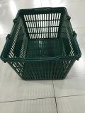 La poignée standard de double de supermarché de fabricant portent le panier de plastique d'achats
