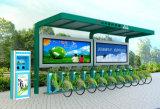 Cabina de control central de un tipo mejorado azul Bicicleta-Fluorescente pública