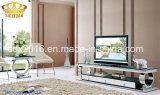 Moderner Wohnzimmer-Edelstahl-Glaskaffeetisch