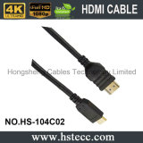 Mini HDMI cable de la producción M/M del cable rápido