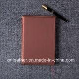 A5 het Notitieboekje van het Leer Organisator van de Bedrijfs van het Bureau, de Agenda van het Leer voor Gift