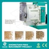 As aves domésticas alimentam o moinho da pelota com equipamento dobro do condicionador/aves domésticas