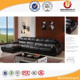 Sofà nero del cuoio del salone di modo con l'angolo (UL-R1188)