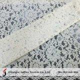 Tissu nuptiale blanc de lacet de qualité (M2160-MG)