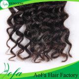 Extensão indiana não processada do cabelo humano do Virgin da onda do cabelo da qualidade superior