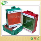 明確な表示画面(CKT-PB-016)が付いているペーパー物質的なハンガーの包装ボックス