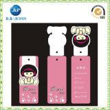 Étiquettes de coup de vêtement pliées par couleur rose mignonne (JP-HT048)