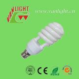 Meia lâmpada energy-saving espiral da série T3 Tri-Color