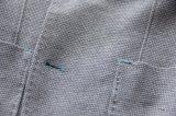 2016의 형식 남자를 위한 밝은 회색 뜨개질을 한 면 우연한 블레이저 코트