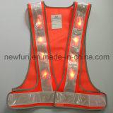 Wasserdichte hallo reflektierende Sicherheits-Weste der Kraft-LED zur Verkehrssicherheit