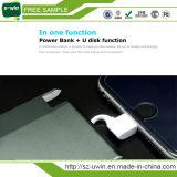 Mfi para a movimentação do flash do USB da potência Bank+ da porta do iPhone