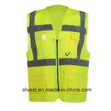 Стандартная высокая тельняшка безопасности Workwear видимости En20471 с карманн