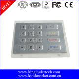 Teclado numérico do metal com o conetor de Pin nivelado de 16 chaves