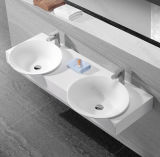 Fregadero del cuarto de baño del tazón de fuente del doble del lavabo de colada del diseño moderno