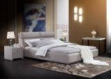 가정 침실 가구 현대 니스 연약한 가죽 2인용 침대 9505