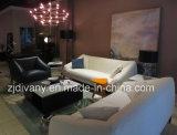Solo sofá de cuero moderno italiano de la tela (D-76A)