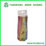 Verpakkende Doos van de Gift van het Eind van de Kleurendruk de Hoge Draagbare Plastic