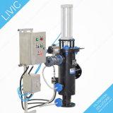 Rincer le filtre à partir de l'orifice de vidange de Bernoulli pour l'eau de mer