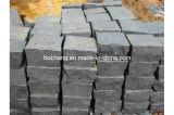 Pedra de pavimentação do basalto G654 preto natural