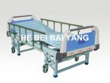 (A-43) Cama de hospital manual de función triple movible con la cabeza de la cama del ABS