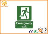 Zoll gedrucktes Photoluminescent Feuer-Notausgang-Zeichen für Gefahren-Vorsicht-Arbeitsplatz