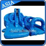 Im Freien riesiges aufblasbares Ozean-Blau-Wasser-Plättchen mit Pool