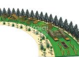 Спортивная площадка Kaiqi деревянная напольная вполне различных деятельностей взбираться, дорог Stub, деревянного моста, сети Crawing